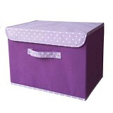 FUNIKA Non Woven Storage Bin with Lip Cover [NW13203] - Purple